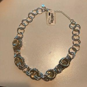 NWT Alfani Silver Baguette Short Necklace